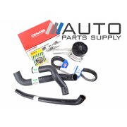Ford AU Falcon 6cyl Water Pump Radiator Hose Thermostat Belt Service Pack