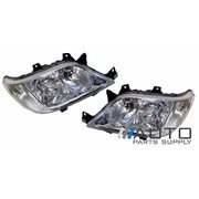 Mercedes Sprinter Van LH + RH Headlights (No Fog Type) suit 2000-2006