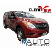 Mazda BT-50 Electric Towing Mirrors Chrome 2012-Current *Clearview*
