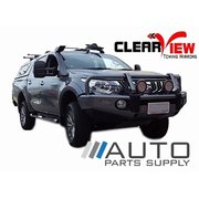Mitsubishi MQ Triton Electric Towing Mirrors Black W/ Indicators 2015-Current *Clearview*