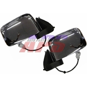 Nissan Navara LH + RH Chrome Electric Door Mirrors Suit D22 2001 Onwards *New Pair*