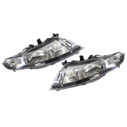 Pair of Headlights To Suit Honda FN Civic Type R 2007-2011