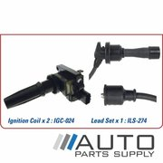 Hyundai Sonata Ignition Coil & Lead Set 2.4ltr G4JS EF-B 2001-2005 *Genuine OEM*