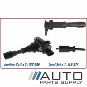 Hyundai Terracan Ignition Coil & Lead Set 3.5ltr G6CU HP 2001-2007 *Genuine OEM*