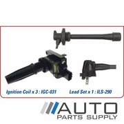 Toyota Prado Ignition Coil & Lead Set 3.4ltr 5VZFE VZJ95 1996-2003 *Genuine OEM*