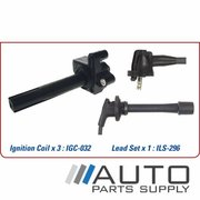 Ignition Coil & Lead Set Suit Toyota Camry 3.0ltr 1MZFE MCV36R 2002-2006