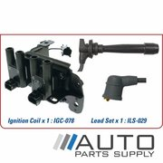 Kia Rio Ignition Coil & Lead Set 1.4ltr G4EE JB 2007-2011 *Genuine OEM*