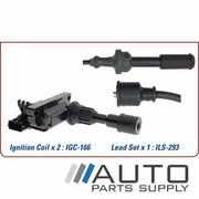 Ignition Coil & Lead Set Ford Laser 1.6ltr ZM KN-KQ 1999-2002