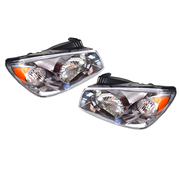 Kia Cerato LH + RH Headlights Head Lights Lamps suit LD 5dr Hatch 2004-2006