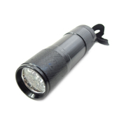 9 LED Mini Super Bright Torch / Flashlight Black *Lion Products*
