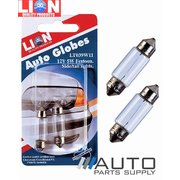 2 Piece Festoon 5w 12 volt Bulbs / Globes *Lion Products*