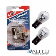 2 Piece 32 / 4 CP 12v Stop Tail Flasher Bulbs / Globes *Lion Products*