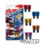 5 Piece Universal Blade Fuse Pack 3-20amp *Lion Products*