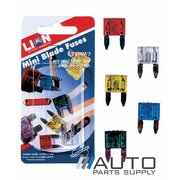 5 Piece Mini Blade Fuse Pack 10-30amp *Lion Products*