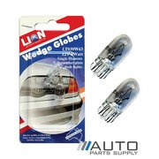 2 Piece 12v / 5w Wedge Globes Suit Tail, Number Plate & Dash *Lion Products*