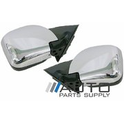 Mitsubishi NM NP Pajero Pair Electric Door Mirrors Chrome 2000-2006
