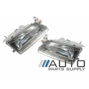 Pair of Headlights (Glass Type) For Toyota AE101 AE102 Corolla 1994-1998