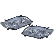 Pair of Headlights For Toyota ZRE152R Corolla Sedan 2007-2010