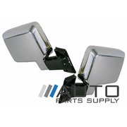 Pair of Chrome Manual Mirrors For Toyota 60 Series Landcruiser 1988-1990