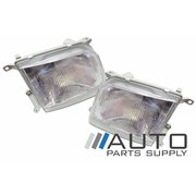 Pair of Headlights For Toyota 90 95 Series Prado 1996-1999