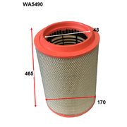 Wesfil Air Filter For Iveco Stralis AT13 12.9ltr Cursor 2005-On