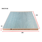 Cabin Filter to suit Nissan Elgrand 2.5L 08/10-on